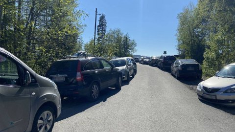 TETT: Slik så det ut ved Badedammen på Grorud søndag ettermiddag. Da hadde Bymiljøetaten og politiet allerede vært på stedet.