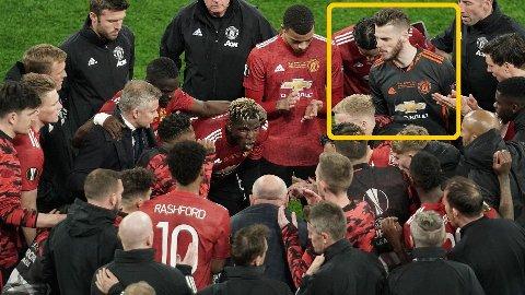 BET SEG MERKE I BILDET: David James reagerte da han så David De Gea i møljen av Manchester United-spillere.