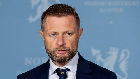 Helse- og omsorgsminister Bent Høie kommer med siste nytt om koronasituasjonen.