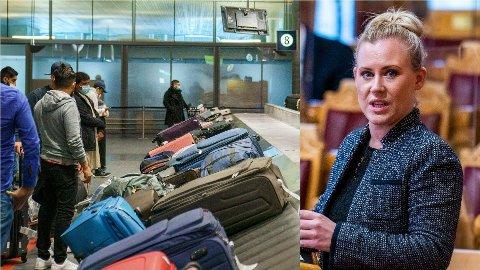 PRZYPADKOWOŚĆ: Lene Vågslid z Partii Pracy prosi rząd o uporządkowanie chaosu, który panuje wokół hoteli kwarantannowych.