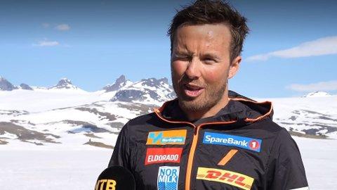 Emil Iversen er på treningsleir på Sognefjellet med resten av langrennslandslaget.
