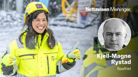 Byråd for miljø- og samferdsel Lan Marie Berg trykket på knappen som avfyrte den første tunnelsalven for Oslos nye vannforsyningsanlegg 18. februar 2021.