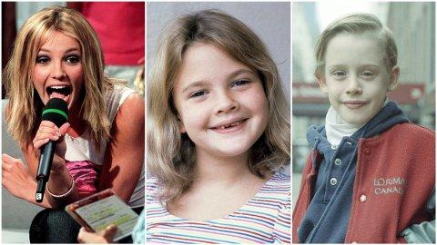 INN I RAMPELYSET TIDLIG: Både Britney Spears, Drew Barrymore og Macaulay Culkin slet etter at de ble kjent.