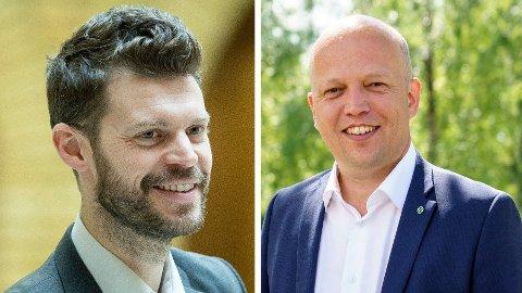 SAMARBEID: Bjørnar Moxnes sier ikke nei til Vedum som statsminister, så lenge en ny regjering samarbeider mot venstre.