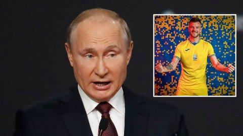 Vladimir Putin sjokkerte en hel verden da Russland i 2014 annekterte Krim-halvøya. Nå har Ukraina lansert sine EM-drakter der de har inkludert Krim som ukrainsk territorium.