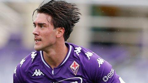 IMPONERER: Dusan Vlahovic har hatt en god sesong i Italia.