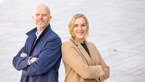 NY TJENESTE: Hallgeir Kvadsheim og Lene Drange lager et inkassoregister, som etter planen blir lansert i løpet av 2021.