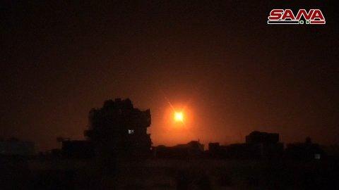 Syrias luftforsvar i bruk i februar i fjor, da meldte også SANA at det var israealske raketter som var skutt mot Damaskus.