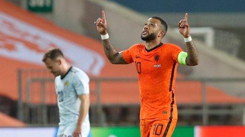 Memphis Depay har scoret like mange mål for Nederland som den legendariske spissen Marco van Basten. Begge har scoret 24 mål.