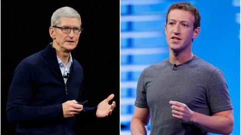 DÅRLIG STEMNING: Facebook og Apple har allerede et anstrengt forhold. Nå hevder flere at førstnevnte skal inn på klokkemarkedet - i direkte konkurranse mot Apple Watch.