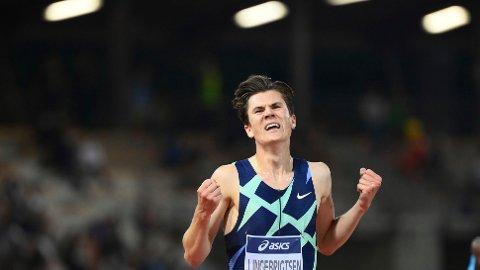 KANONLØP: Jakob Ingebrigtsen leverte en fantomtid på 5000 meter torsdag.