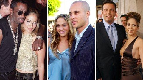 FLERE EKSER: Jennifer Lopez har prøvd lykken i kjærlighetslivet flere ganger, men det har ikke alltid endt godt.