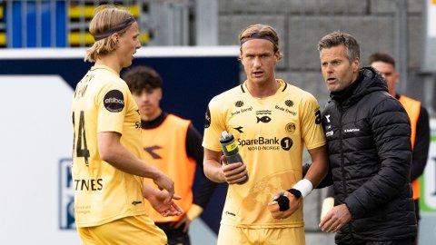 Bodø/Glimts trener Kjetil Knutsen, Erik Botheim og Ulrik Saltnes skal til Polen.