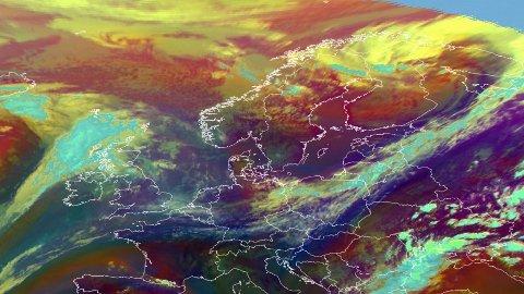 VARMT SØR I EUROPA: Med høytrykk lenger sør i Europa, blir lavtrykkene styrt mot Norge denne uken, men mange har likevel gode værutsikter.