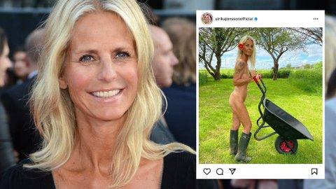 150.000 FØLGERE: Ulrika Jonsson har nådd 150.000 følgere på Instagram, og feirer på en helt spesiell måte.