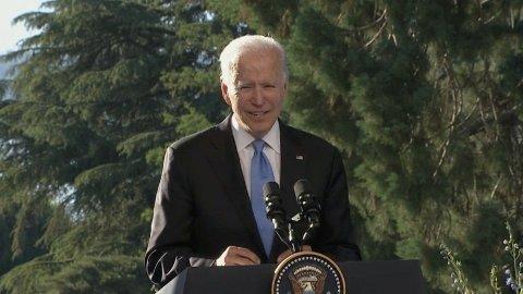 USAs president Joe Biden møtte pressen etter møtet med Russlands president Vladimir Putin.