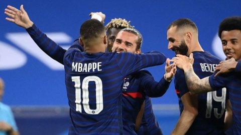 Vi tror det løsner foran mål for Karim Benzema, Kylian Mbappe og Antoine Griezmann i lørdagens kamp mot Ungarn.