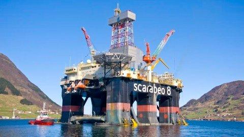 FUNN: Scarabeo 8-riggen stod for boringen da Vår Energi fant olje ved Balder-feltet nylig.