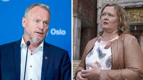 UVANLIG DUO: Folkeaksjonen Nei til mer bompenger ber Raymond Johansen (Ap) og Anne Haabeth Rygg (H) ta felles ansvar i et nytt byråd. Rygg sier hun forstår at forslaget kommer.