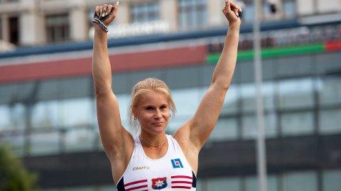 STAVHOPPER: Den svenske stavhopperen Michaela Meijer under et Diamond League-stevne i Lausanne i 2020.