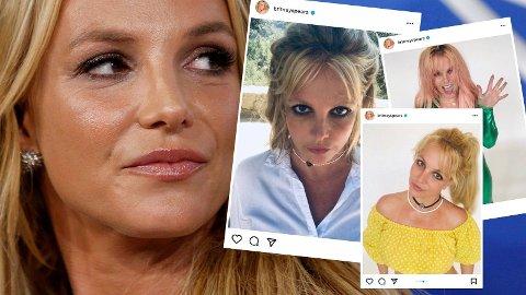AKTIV: Britney Spears har delt flere bilder og videoer på Instagram, men avslører at de ikke har vist sannheten om hvordan hun egentlig har det.