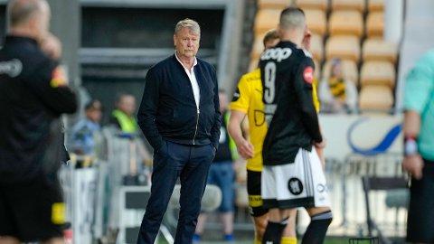 KRITISK: Rosenborg-trener Åge Hareide var ikke en blid mann etter nok et tap.
