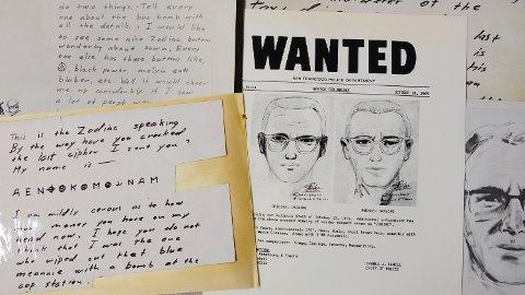 KJENT: Zodiac-mannen er en av USA mest kjente seriedrapsmenn, som terroriserte San Francisco-området på slutten av 1960-tallet. Det er aldri fastslått hvem han var.