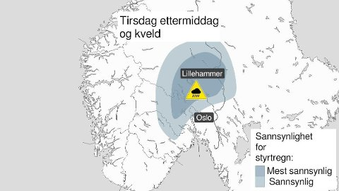 FAREVARSEL: Kraftige regnbyger i vente, advarer meteorologene.