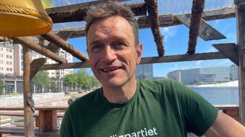 BILSTRID: Fungerende MDG-leder Arild Hermstad vil ha slutt på bygging av store motorveier om partiet hans får regjeringsmakt til høsten.
