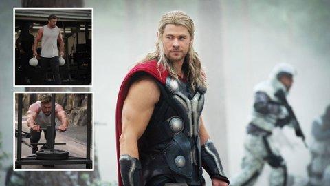 HARD TRENING: Treneren bak Chris Hemsworth sin «Thor»-kropp avslører detaljen bak resultatet.
