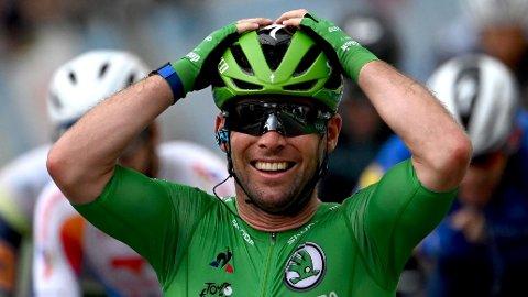 REKORD: Mark Cavendish tok fredag sin 34. etappeseier i Tour de France.