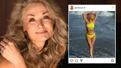 HISTORISK: Aldri før har en nykommer i badedraktutgaven til magasinet Sports Illustrated vært lavere eller eldre enn Kathy Jacobs.