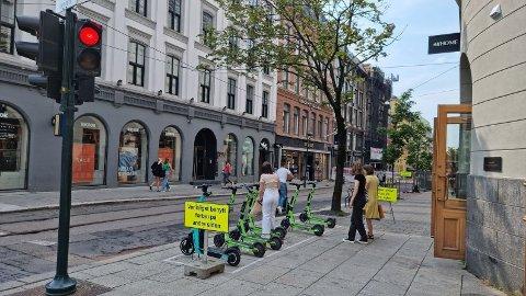 Det er mulig å leie el-sparkesykkel på dagen i Oslo, men på kvelden og natt må du ha din egen.