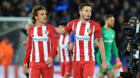 TIDLIGERE LAGKAMERAT: Antoine Griezmann og Saúl Ñíguez spilte sammen i Atletico, men nå kan de være involvert i en byttehandle for hver sin klubb.