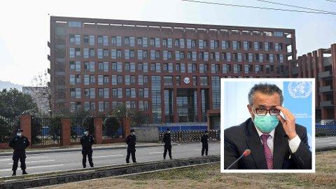 Slik så Wuhan Institute of Virology ut da WHOs forskerdelegasjon var på besøk i februar i år.