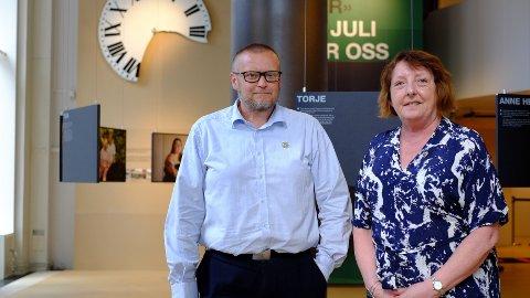 LEDER STØTTEGRUPPA: Lisbeth Røyneland og Tor-Inge Kristoffersen er henholdsvis leder og nestleder i Støttegruppa 22. juli.