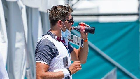 SINGLESCULLER? Oscar Helvig avslører at han ønsker å ro singlesculler etter nedturen i den norske dobbeltfireren søndag.