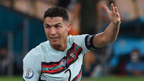 Cristiano Ronaldos fremtid har blitt spekulert i den siste tiden. Her er portugiseren fra sommerens EM-sluttspill, som endte med exit i åttedelsfinalen og toppscorer-tittel for 36-åringen.