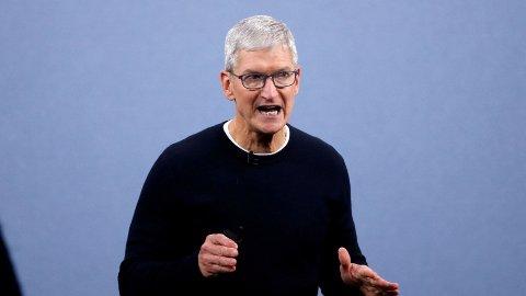 LEGGER FREM TALL: Apple-sjef Tim Cook.