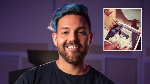 UTVIDER FAMILIEN: Artisten Alejandro Fuentes venter barn nummer tre med kona.