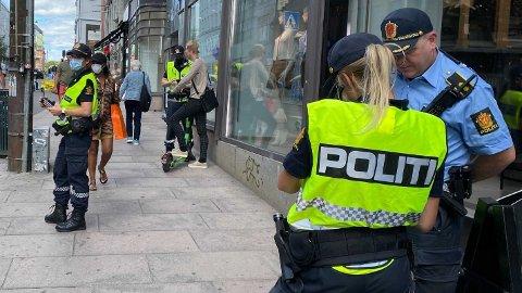 Mandag utførte politiet en trafikkontroll rettet mot el-sparkesykler i Oslo sentrum.