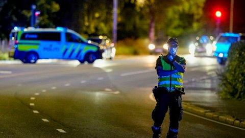 OSLO: En mann i 50-årene er siktet for drapsforsøk etter at en kvinne i 20-årene ble knivstukket i Oslo mandag kveld. Foto: Fredrik Hagen / NTB