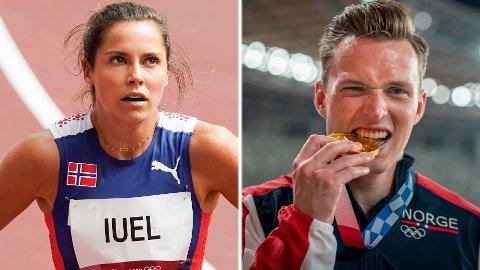 VAR SKUFFET: Amalie Iuel var langt nede etter sin OL-nedtur, men valgte å holde det tilbake for å hjelpe kompisen Karsten Warholm.