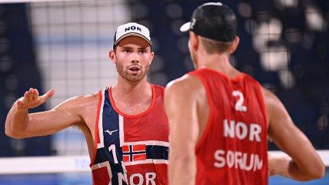 SEMIFINALE: Anders Mol og Christian Sørum skal spille semifinale mot Latvia.