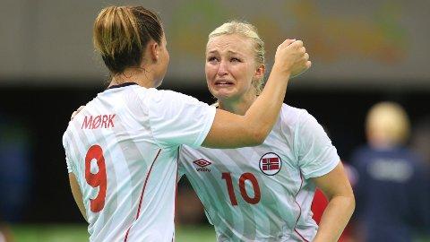 Nora Mørk og Stine Bredal Oftedal strigråt etter at Russland knuste OL-gulldrømmen i 2016. Nå kan de endelig få revansj Foto: Vidar Ruud / NTB