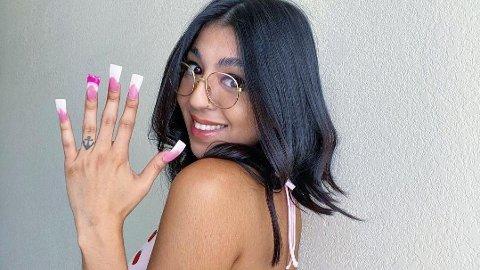NY TREND: «Duck nails» tar av på TikTok.