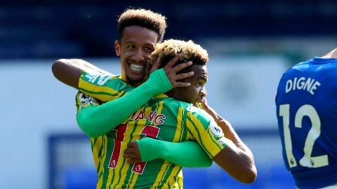 Callum Robinson (t.v.) og Grady Diangana blir viktige for West Bromwich Albion denne sesongen.
