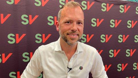 RØDGRØNT KAOS: SV-leder Audun Lysbakken liker dårlig planene til Senterpartiet om å regjere uten SV dersom de rødgrønne vinner valget.