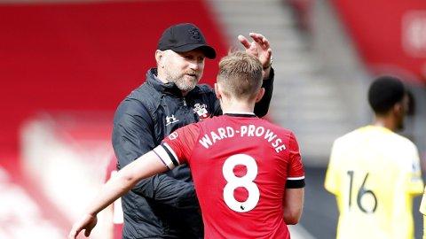 Ralph Hasenhuttl (left) og James Ward-Prowse er to viktige brikker for Southampton.