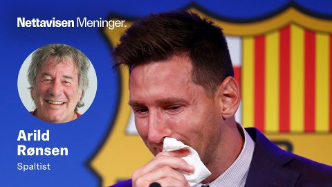 LIONEL MESSI: Tar et gråtende farvel med sitt kjære Barcelona.
